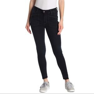 Free People Ivy Mid Rise Released Hem Skinny Jeans